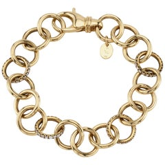 1.62 Carat Old European Cut Diamonds Set in an 18 Karat Gold Link Bracelet