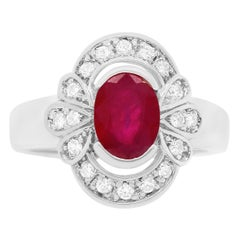 1.62 Carat Ruby and Diamond Ring