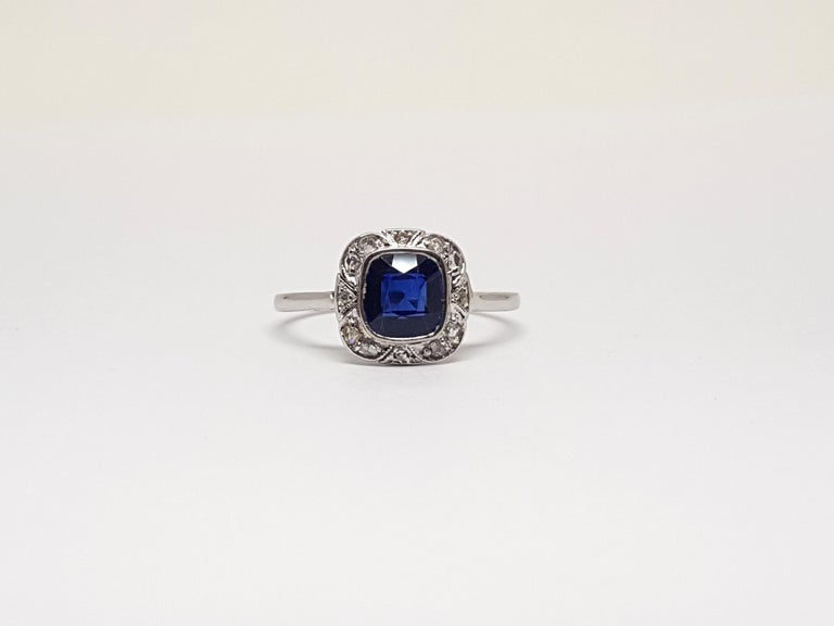Gold: 18 carat white gold Weight: 5.20 gr. Diamonds: 1.70 ct. colour: G clarity: VS Width: 1.87 cm. Ring size: 52 / 16.75 free adjustment of ring up to size 70 / 22.50mm Shipping: free worldwide insured shipping  All our jewellery comes with a
