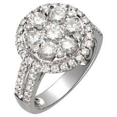 1.63 Carat Diamond 14 Karat White Gold Ring
