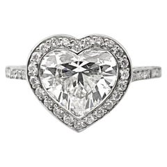 1.63 Carat GIA Certified F Si1 Heart Shaped Diamond, in an 18K White Gold Ring