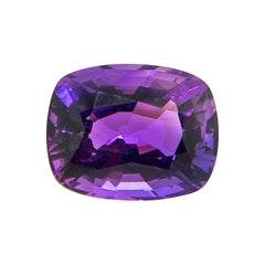 16.34 Carat Natural Unheated Cushion-Cut Burmese Vivid Purple Amethyst