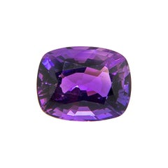 16.34 Carat Natural Unheated Cushion-Cut Burmese Vivid Purple Amethyst