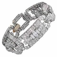16.40 Carat Art Deco Diamond Bracelet