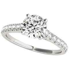 1.65 Carat Round Brilliant Cut Diamond Engagement Ring GIA Certified