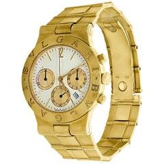 165 Gm 18 Karat Yellow Gold Bvlgari Chrono Watch Unisex Bvlgari Logo Watch