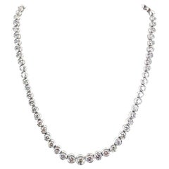 16.50 Carat Diamond Platinum Graduated Riviera Necklace