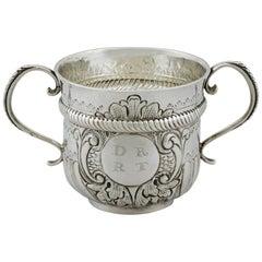 1654 Antique Britannia Standard Silver Porringer