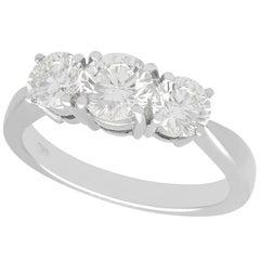 1.66 Carat Diamond and Platinum Trilogy Ring