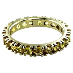 Unisex Yellow Sapphire 1.66 Carat Eternity Ring