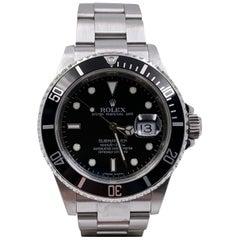 16610 Rolex Submariner Black Dial Stainless Steel Rehaut 2008