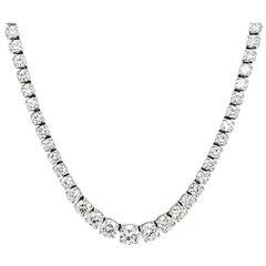 16.68 Carat Diamond Riviera Necklace