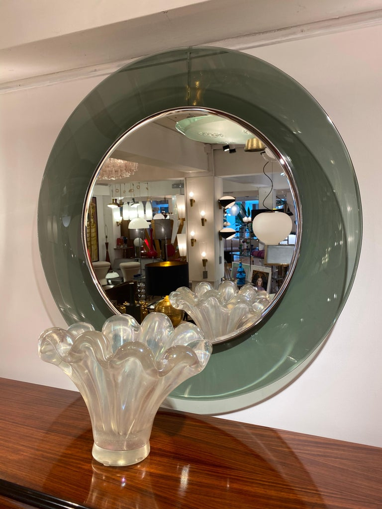 '1669' Model Circular Glass Mirror by Max Ingrand for Fontana Arte, Italy, 1960 For Sale 5