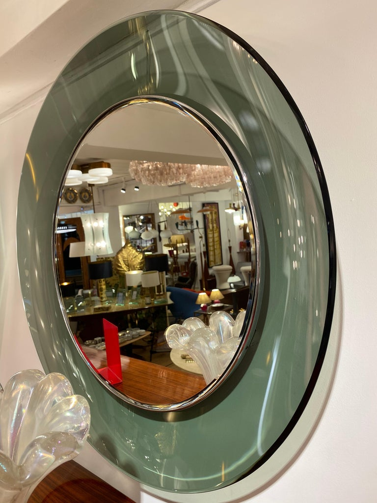 '1669' Model Circular Glass Mirror by Max Ingrand for Fontana Arte, Italy, 1960 For Sale 6