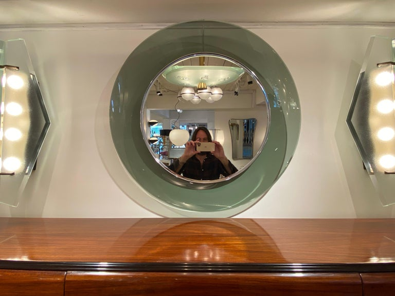 '1669' Model Circular Glass Mirror by Max Ingrand for Fontana Arte, Italy, 1960 For Sale 8