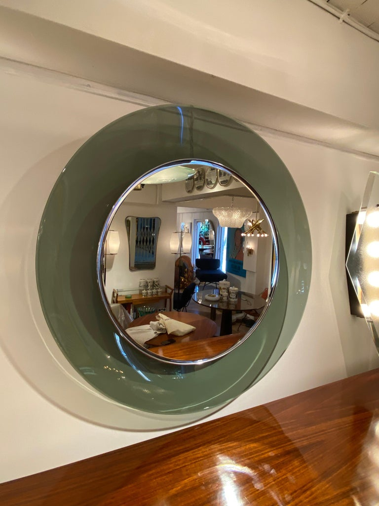 '1669' Model Circular Glass Mirror by Max Ingrand for Fontana Arte, Italy, 1960 For Sale 2