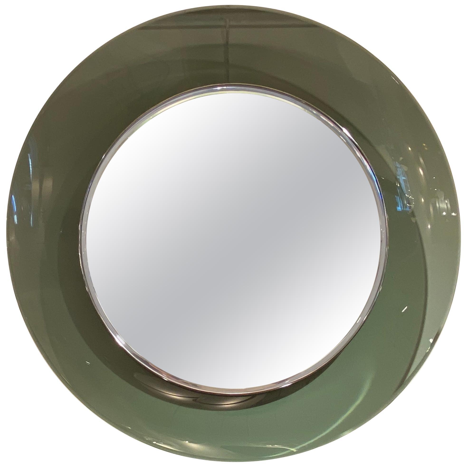 '1669' Model Circular Glass Mirror by Max Ingrand for Fontana Arte, Italy, 1960