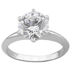 Tiffany & Co. 1.67 Carat Platinum Diamond Ring