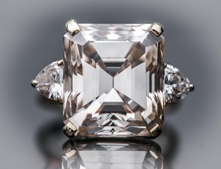 Women's or Men's 16.77 Fancy Light Brown Diamond Ring For Sale