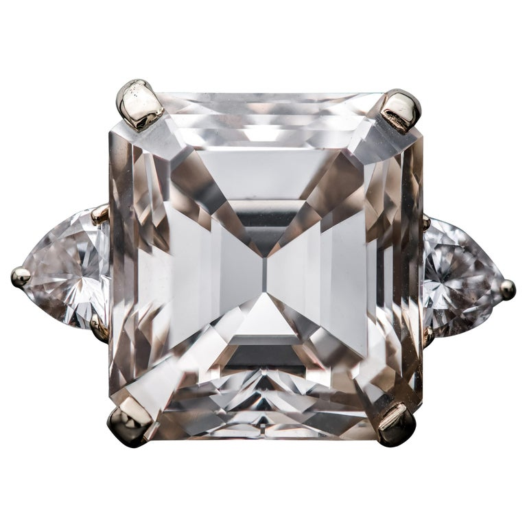 16.77 Fancy Light Brown Diamond Ring For Sale