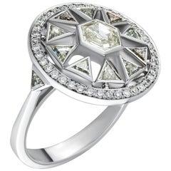 1.68 Carat Stepcut Diamond Ring in 18 Karat White Gold