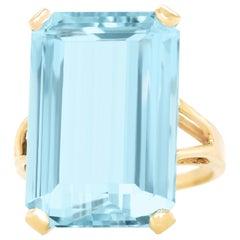 16.89 Carat Aquamarine Ring
