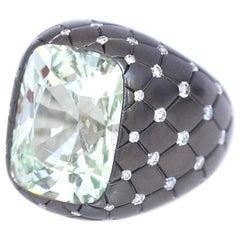 16.9 Carat Alexandrite Diamond Gold Ring, 1990