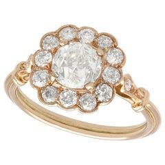 1.69 Carat Diamond Gold Cluster Dress Ring in Rose Gold