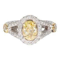 1.69 Fancy Yellow Diamond Cocktail Ring