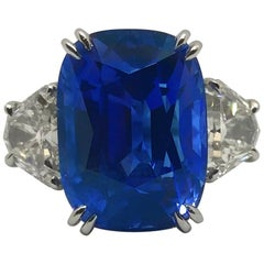 16.90 Carat No-Heat AGTA Certified Ceylon Sapphire Diamond Ring