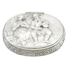1690s Antique Dutch Silver Tobacco Box