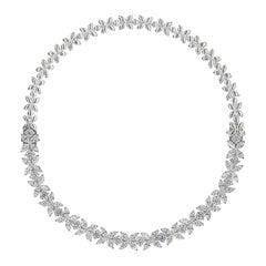 16.92 Carat Diamond Floral Motif Bracelet Necklace