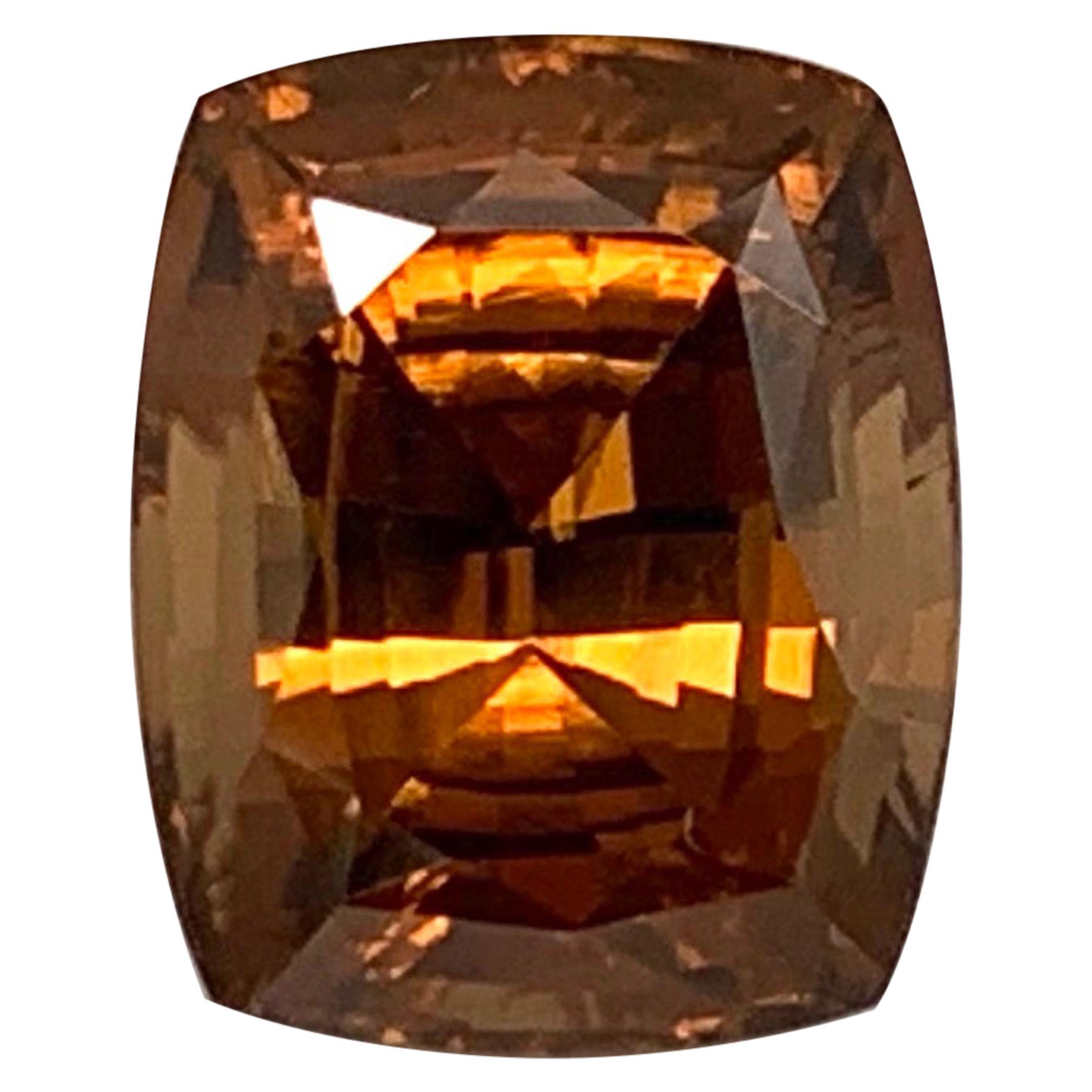 16.93 Carat Orange Zircon Loose Engagement Ring or Pendant Enhancer Gemstone