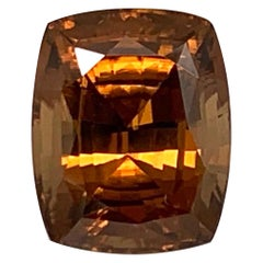 16.93 Carat Cushion Shape Orange Zircon, Unset Gemstone