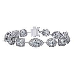 16.98 Carat Fancy Shaped Diamond Bracelet