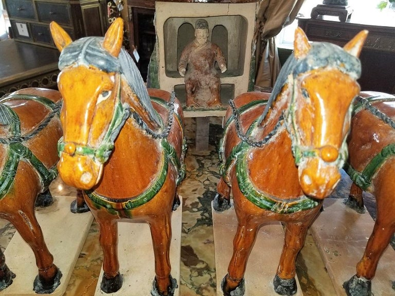 Ming Style Horses and Carriage For Sale 8