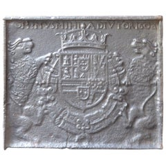 16th-17th Century French 'Coat of Arms of Philip III of Spain' Fireback