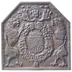 16th-17th Century French Renaissance 'Arms or Lorraine' Fireback