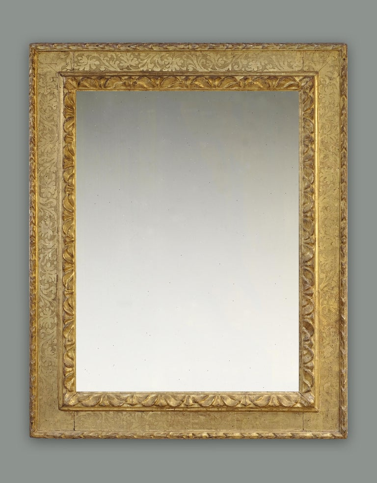 Hand-Carved 16th-17th Century Italian Carved Late Renaissance Frame, with Choice of Mirror For Sale