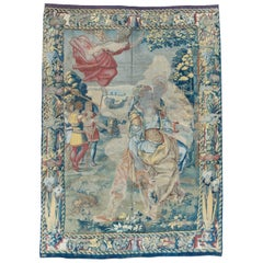 Antique 16th Century Antique Brussels Tapestry with Angel