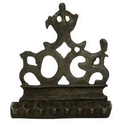 16th Century Italian Brass Hanukkah Lamp Menorah