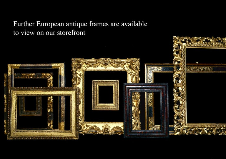 Hand-Carved 16th Century Carved Venetian Renaissance Frame, with Choice of Mirror For Sale