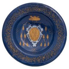 16th Century Castelli Italian Maiolica Farnese alla turchina Dish