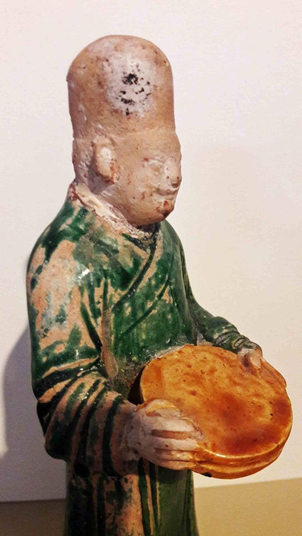 Terracotta 16th Century Ceramic Attendant Figure, Ming Dynasty For Sale