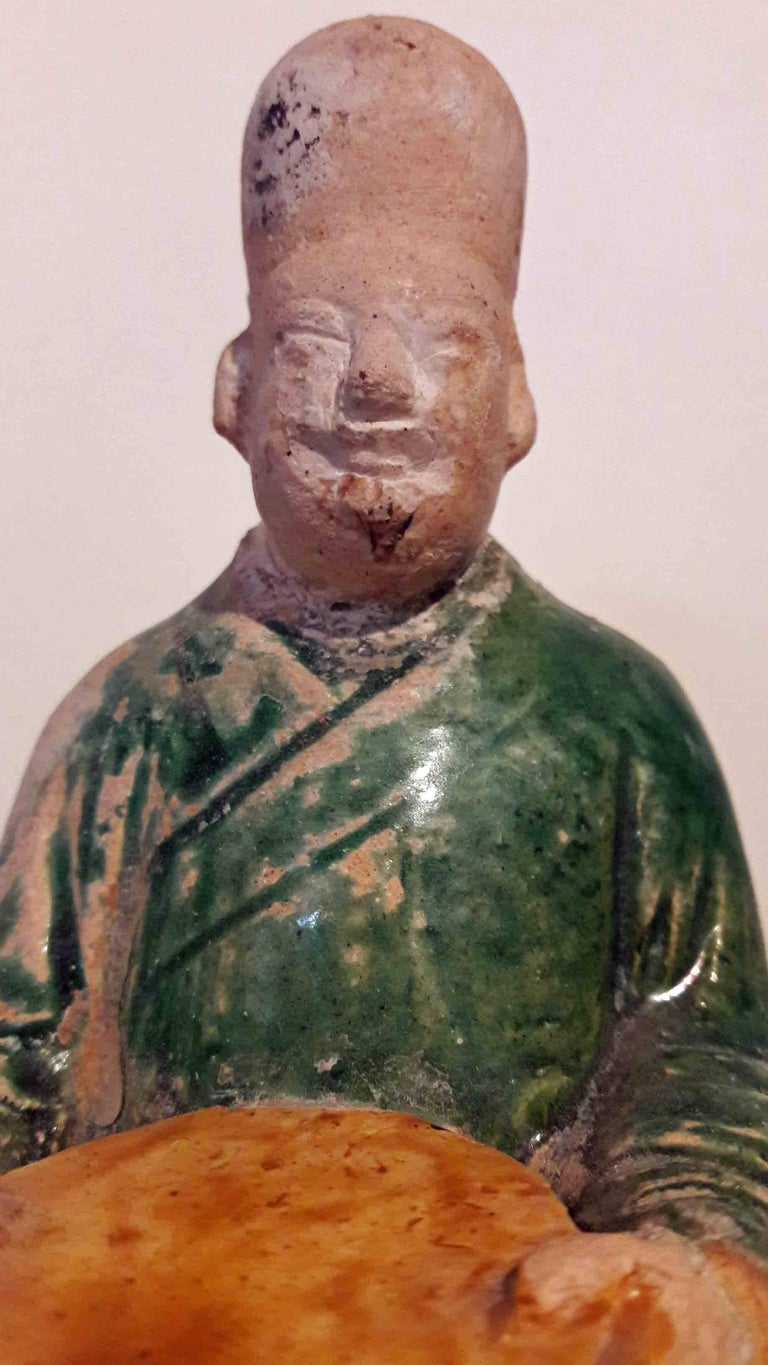16th Century Ceramic Attendant Figure, Ming Dynasty For Sale 2