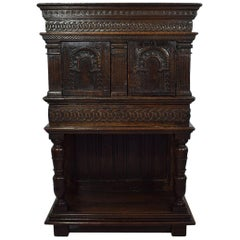 16th Century English Elisabethan Oak Cupboard/ Cabinet
