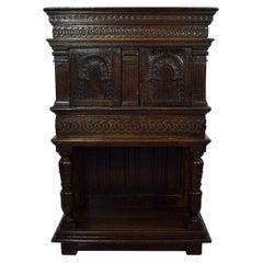 16th Century English Elisabethan Oak Cupboard/ Cabinet