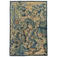 16th Century Antique Flemish Verdure Feuilles de Choux Tapestry