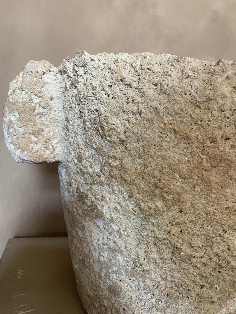 16th Century French Sandstone Mortar For Sale 3