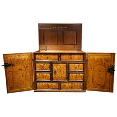 16th Century German Cabinet with a Floral and Architectural Decoration